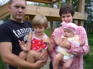 Elena and Anton. Kids: Arina and Kira