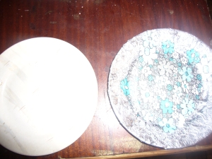 Plate decoupage