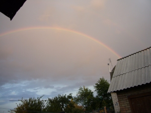 Rainbow picture over my house