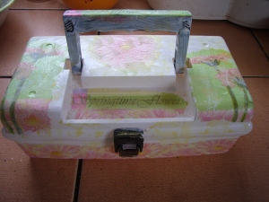 sewing box decoupage