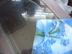 glass picture decoupage how to