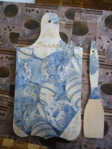 Easter present decoupage how to