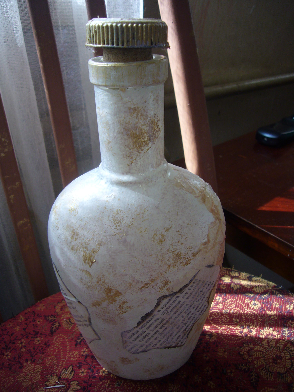 More glass bottles decoupage diy crafts decoupage ideas for Glass bottle project ideas