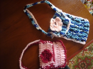 Crocheting baby bags