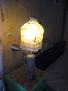 glass bottle handmade lamp decoupage how to