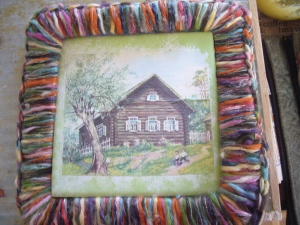 decoupage and crocheting upcycling