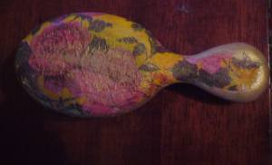 brush decoupage project