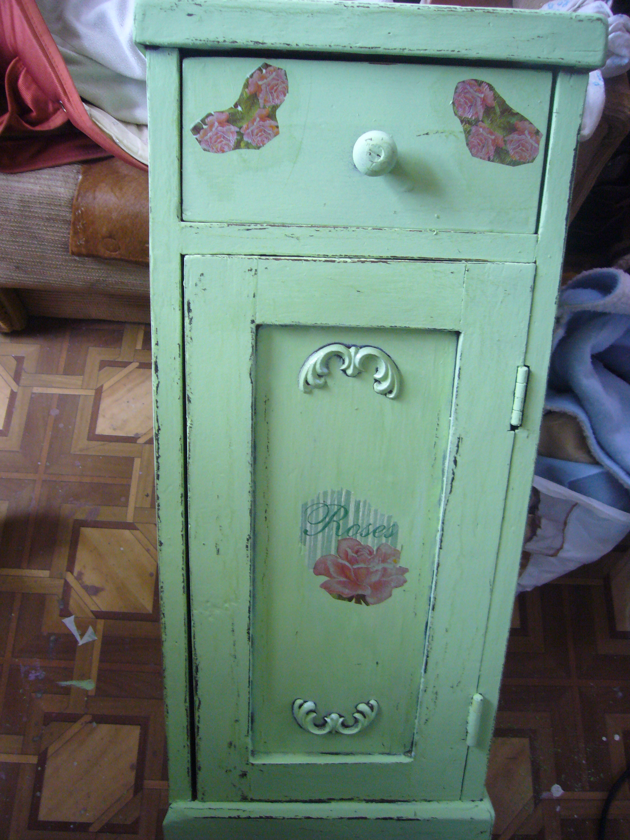 furniture restoration projects. Cabinet Decoupage In Shabby Chic Style Furniture Restoration Projects