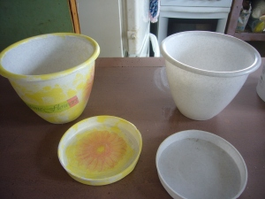 flower pot decoupage