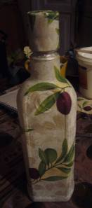 glass bottle decoupage tutorial