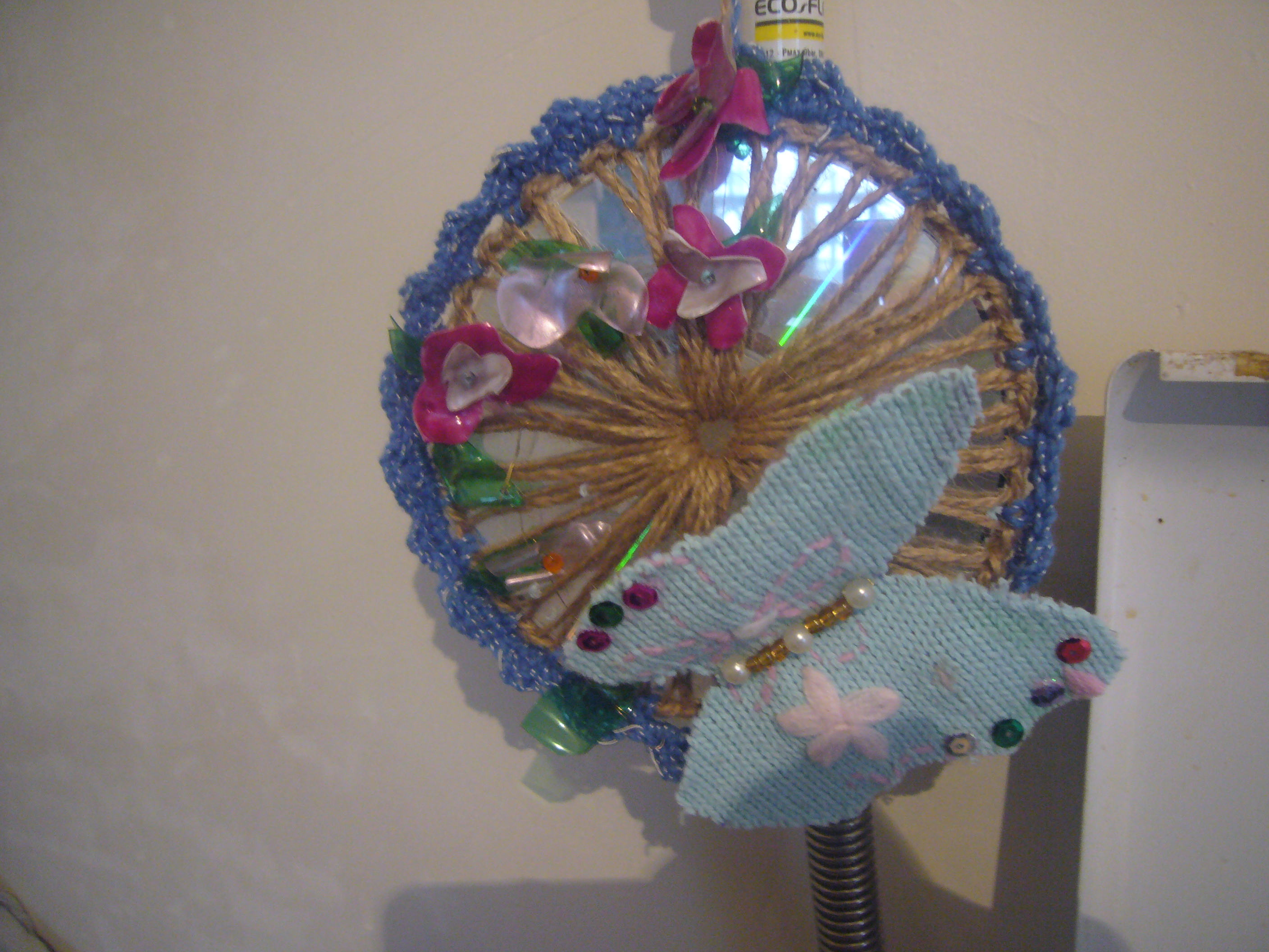 Recycled Craft Cd Ornament Diy Crafts Decoupage Ideas