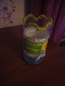 decoupage ideas: plastic bottle decoupage