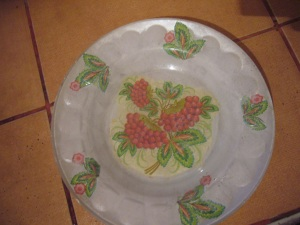 decoupage ideas: glass plate decoupage