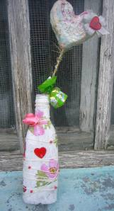 glass bottle decoupage ideas