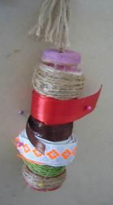 upcycled ribbon holder