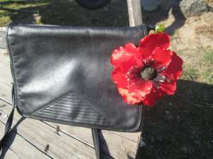 fabric poppy flower