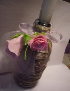 подсвечник розы из фома