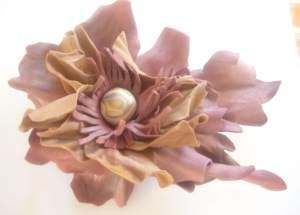 handmade flower brooch цветок брошь ручной работы