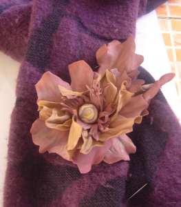 фом цветок коричневый